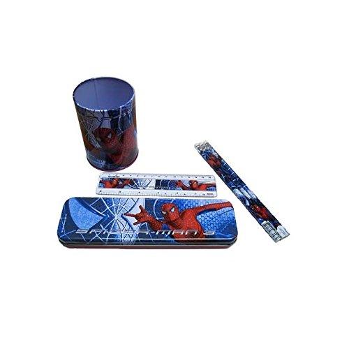 Spiderman - Set Scolaire Pot a Crayons Spiderman