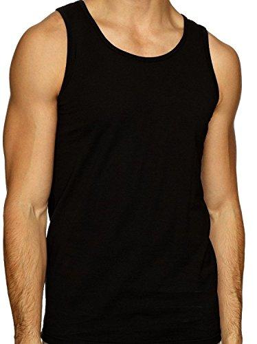 Herren-Unterhemd, 100% Baumwolle, verschiedene Farben, erhältlich in den Größen S - XXL, 3-er Packung Gr. Large 104/109 cm, multi