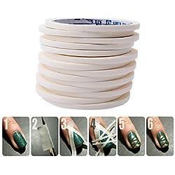 Blanco de 0,5 cm * 17 m clavo arte cinta rodillos uñas decoración borde guía Consejos pegatinas DIY manicura raya herramientas