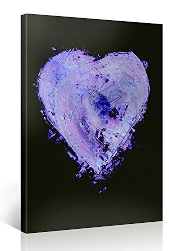 Purple Heart – Premium Kunstdruck Wand-Bild – 75x100cm XXL Leinwand-Druck in deutscher Marken-Qualität – Leinwand-Bilder auf Holz-Keilrahmen als moderne Wohnzimmer-Deko