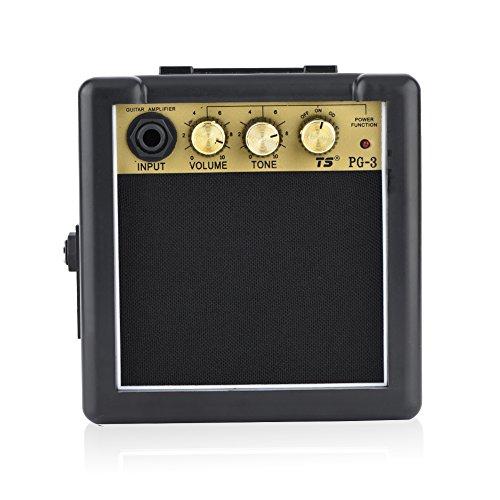 Dilwe Gitarrenverstärker Lautsprecher, hohe Empfindlichkeit 3W E Gitarre Verstärker Lautsprecher Volume Tone Control Zubehör