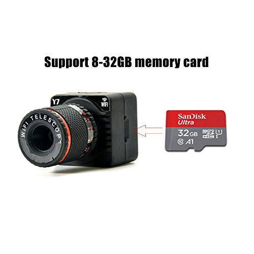 Mini Kamera, 50 timesHD Sport Action wasserdichte kleine versteckte Videokamera WiFi Drahtlose Überwachung Überwachungskamera Miniatur Digital Teleskop Luftaufnahmen Anzeigen