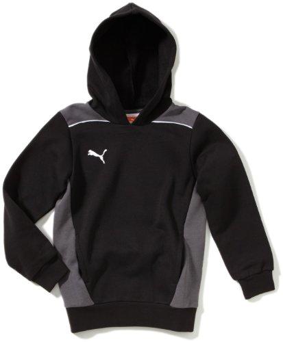 Puma Kinder Sweatshirt Foundation Hooded Hoody, Black/Dark Shadow, 152 - Black Forever Hoody Sweatshirt