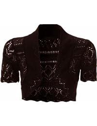 Neue Frauen Plus Size Crochet Knit Fisch-Netz Bolero Shrugs Tops 36-48