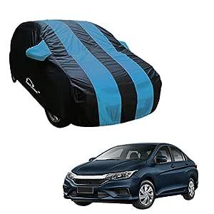 Autofurnish Aqua Stripe Car Body Cover Compatible with Honda City 2017 - Arc Blue