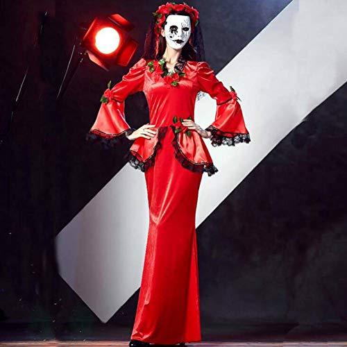 ASDF Halloween Ostern Karneval Kinder Erwachsene Männer und Frauen Rose Blumen Teufel Tod Kostüm (Blume Mann Kostüm)