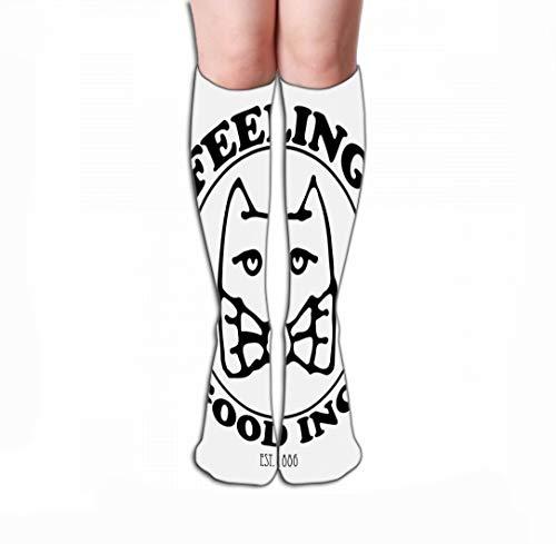 zengjiansm Hohe Socken Women's Tube Stockings Athletic Crew Socks 19.7