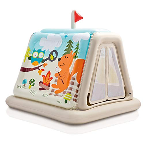 Bouncy Castles Sports Toys Children's Inflatable Castle Indoor Children's Tent Game Toy House Home Summer Children's Playground Inflatable Children's Bedroom (Color : Gray, Size : 127 * 112 * 166cm)