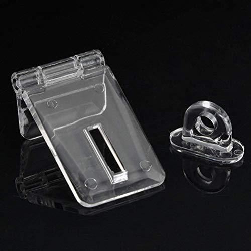 Scharnierschloss, Acryl, transparent, 90 Grad, Verriegelung, Scharnierverschluss, Schnalle, transparentes Scharnier für Schmuckkästchen. -