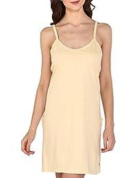 Bralux Women's Tanvi Cotton Hosiery Full Slip Camisole Skin