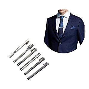 6 Stücke Krawattenklammer Herren Krawattennadel 6cm Tie Clips Krawatten Bar Clips für Männer Geschäft Hochzeit