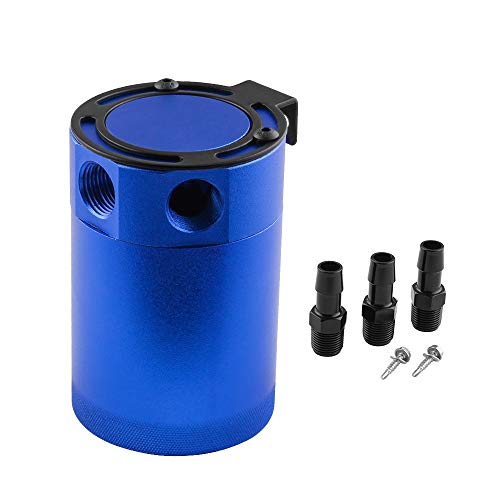 W.S.-YUE Universale in Alluminio Compatto a 3 Fori per Prese e Serbatoi/separatore Olio-Aria 3Port 2 ingressi e 1 Uscita con valvola di Scarico (Color : Blue)