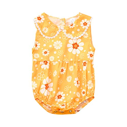 Säuglingsbaby-Mädchen-Sleeveless Blumendruck-Spielanzug-Bodysuit-Schwester-Kleidung Infant Baby Strampler Sommer-Kleinkind-Mädchen-sleeveless ()