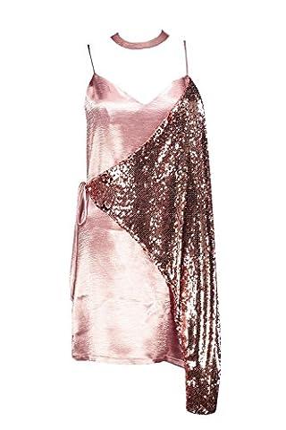 Femmes Antique Rose Boutique Emma Robe Nuisette Satinée À Sequins - 10