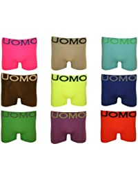 4 – 8 er Pack UOMO Boxershorts NEON FARBEN Retroshorts Pants Unterhosen GR. S M L XL XXL XXXL / 4 5 6 7 8 9