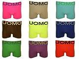 4er Pack Pack UOMO Boxershorts NEON FARBEN Retroshorts Pants Unterhosen 009 Größe L-XL