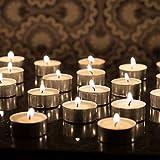 Satya 50 Pieces Set Tea Lights Candles Smokeless