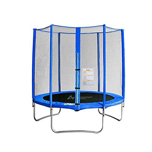 ULTRAPOWER SPORTS Gartentrampolin 305cm – 6 Stangen Outdoor-Trampoline Komplettset inkl. UV beständige Sicherheitsnetz gepolsterten Netzpfosten PVC Federabdeckung Sprungtuch Regenschutz Leiter für Fitness, belastbar bis 120 kg