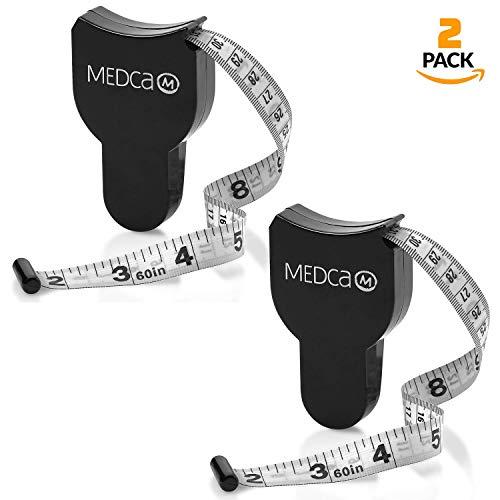 Körper Maßband - (2er Pack) Maßbänder für Körper und Fettanteil Überprüfung, (Zoll und cm) Einziehbares Maßband für genaue Körperfett Berechnung zum Berechnen von Fitness Körper Maße