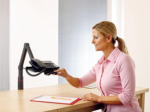Novus TalkMaster Telefonschwenkarm (mit Telefonablage und 2-gelenkigem Schwenkarm) anthrazit - 4