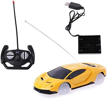 Lamdoo 1/24 LED Clignotant Sport Racing Racing Racing Car Toys électrique Jouets pour  s Cadeau, Plastique, Jaune, 19x6x3cm   Online Shop  918325