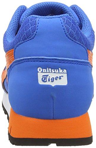 Onistuka Tiger Curreo, Chaussures Multisport Outdoor Mixte adulte Bleu (Mid Blue/Orange 4209)