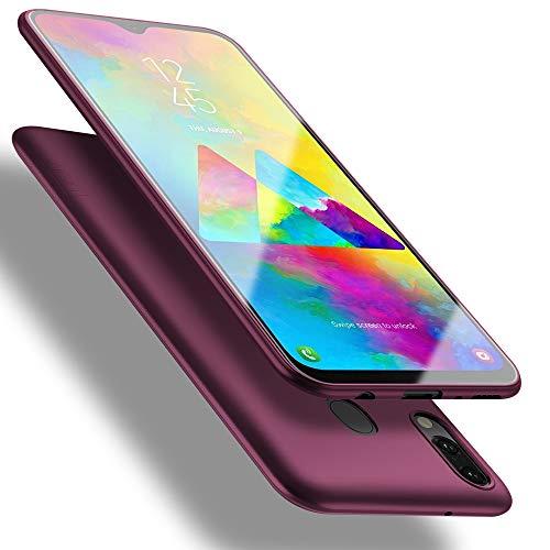 X-level für Samsung Galaxy M20 Hülle, [Guardian Serie] Soft Flex Silikon Premium TPU Echtes Telefongefühl Handyhülle Schutzhülle Kompatibel mit Galaxy M20 Case Cover - Weinrot