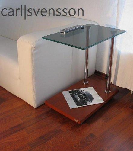 Carl Svensson Design Beistelltisch Kirschbaum V-270 getöntes Glas