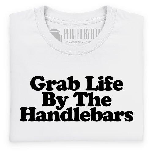 Handlebars T-Shirt, Herren Wei