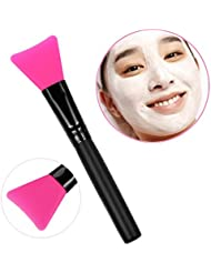 Brosse Mask,OVERMAL PoignéE En Bois Visage Facial Masque De Boue MéLange De Brosse CosméTiques Kit De Maquillage