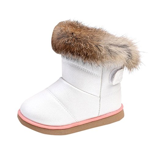 Primeros Pasos Zapatos bebé Niña NiñInvierno bebé niños niñas Zapatos de Cuero Botas Zapatos Calientes...