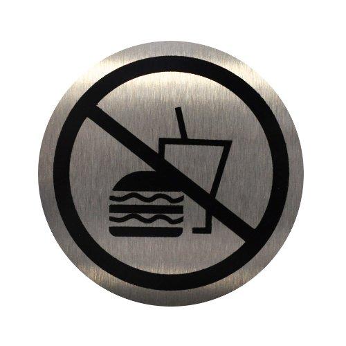 Acciaio inossidabile Doorplate/Door Sign-no food or