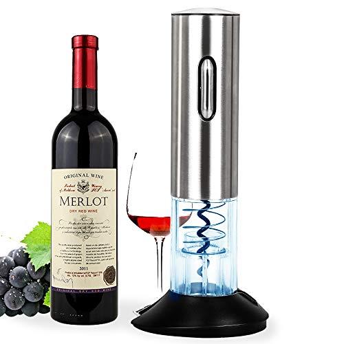 Apribottiglie elettrico, cavatappi, apriscatole automatico per vino, set apribottiglie senza cordone in acciaio inox, il regalo ideale per gli amanti del vino