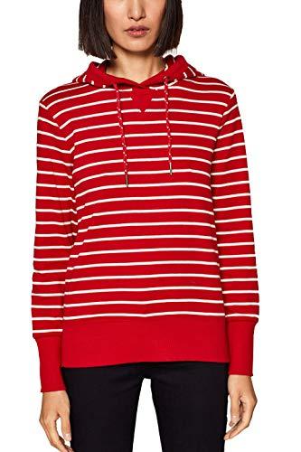 edc by ESPRIT Damen Sweatshirt 019CC1J019, Rot (Dark Red 610), X-Small (Herstellergröße: XS)