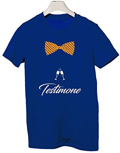Tshirt Addio al celibato crew - Testimone dello sposo- - Tutte le taglie by (Brindisi Sposa Sposo)