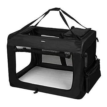 LEMAIJIAJU Cage de Transport Sac de Transport Caisse de Transport Pliable pour Chien et Chat Animal Tissu Oxford Noir XXL