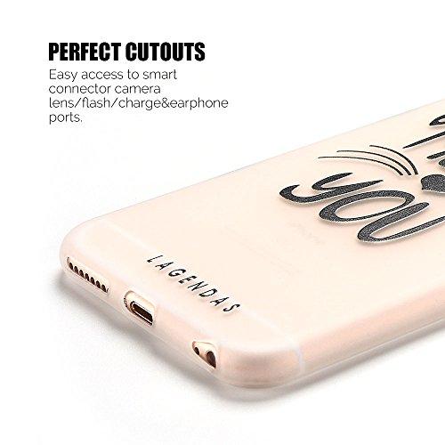 Coque iPhone 6S Plus , Etui iPhone 6 Plus TPU Case Silicone Transparente Slim Souple Étui de Protection Flexible Soft Cover avec Motif Spécial Anti Choc Ultra Mince Integrale Couverture Bumper Caoutch Meow You
