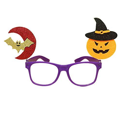 lengestelle Halloween Make-Up Party Requisiten Brillen Kinderparty Zubehör (Lila Fassungen Fledermaus Kürbis Muster) ()