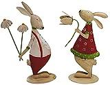khevga coniglietti di metallo - Set di 2