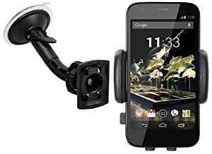 mumbi KIT Support fixation Motorola Moto G pare-brise voiture - Support ventouse portrait / paysage