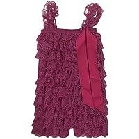 BABEMOON Pagliaccetto del bambino ragazze Cascade Ruffle tuta Lace Outfit 0-4Y
