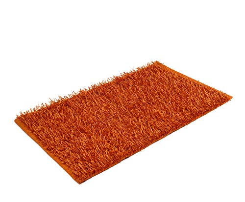 Gözze Teppich, Langflor, Metallic-Optik, 60 x 100 cm, Shaggy, Orange, 1012-36-74 -