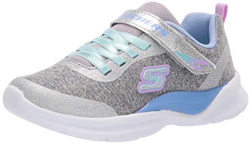 Skechers Mädchen Tech Groove Sneaker Mehrfarbig (Grey Multi Gymt) 34 EU