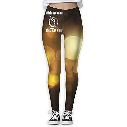 QIAOJIE This is An Opinion Women's Full-Length Yoga Workout Leggings Thin Capris -
