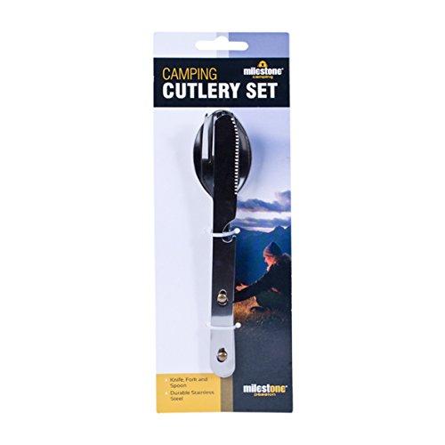 Milestone 3 Piece Camping Cutlery - Silver