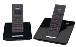 Switel DF972 Téléphone sans fil DECT + combiné supplémentaire Noir