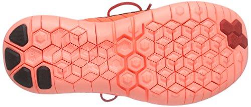 Nike Damen Free 3.0 Flyknit Laufschuhe Rot (Leuchtendes Karmesinrot/Hyper-Orange/Volt/Schwarz 602)