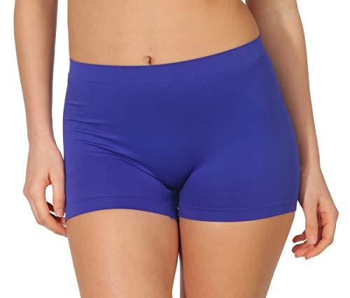 simaranda 6er Pack Damen Slips Seamless Unterwäsche Panty Boxershorts Unterhose Microfaser 20 (XL/XXL, Farbig) - 5