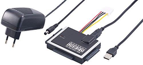 festplatten auslesegeraet Xystec Festplatten Auslesen: Universal-Festplatten-Adapter IDE/SATA auf USB 2.0, für HDDs & SSDs (Festplatte Auslesen Adapter)