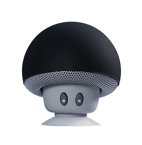 Daorier Mini Enceinte Bluetooth Portable Noir Avec Ventouse Haut Parleur Bluetooth 3.0 Sans Fil Speaker Stéréo Mains Libres Téléphone Microphone Compatible avec IPhone IPad Samsung Android
